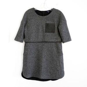 Madewell wool blend shirt mini dress pockets M